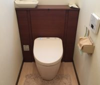 タイプは同じ、新しい機能付きのウォシュレットトイレに交換