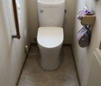 100点です。トイレが広くなりました!